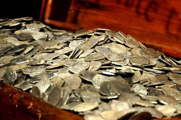 Silver recovered from the wreck of the Whydah off Cape Cod, Massachusetts. (Public Domain)