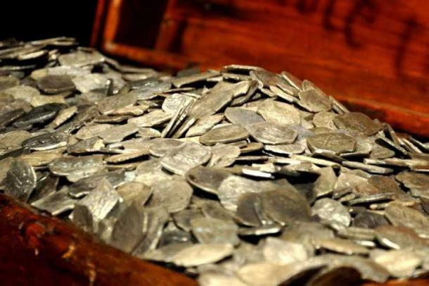 Silver recovered from the wreck of the Whydah