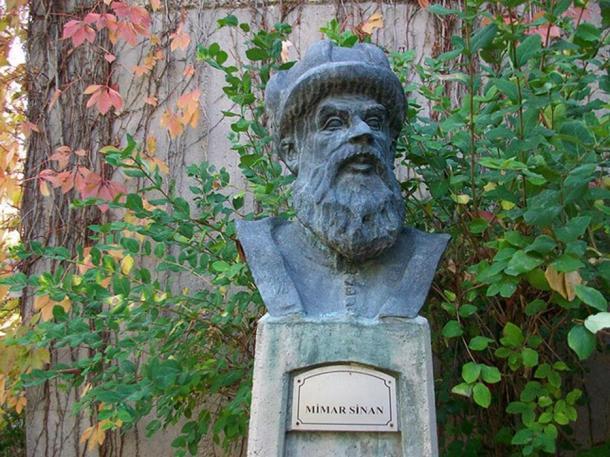 Mimar Sinan bust in Ankara, Turkey.