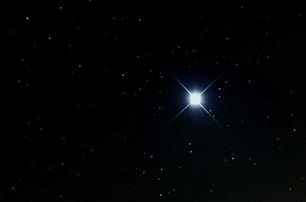 Sirius, the brightest star in the night sky
