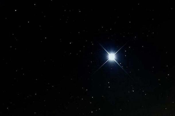 Sirius, the brightest star in the night sky.