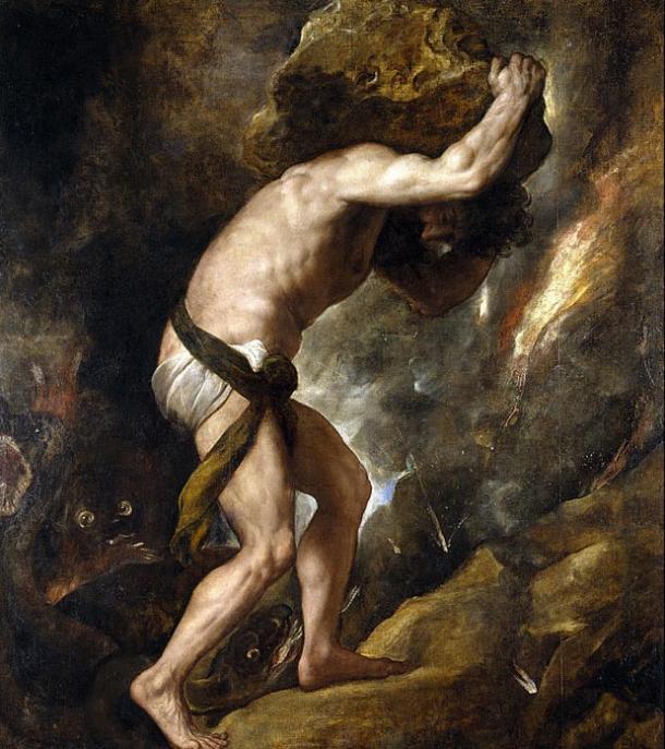 Sisyphus' actions led to his maddening eternal damnation.