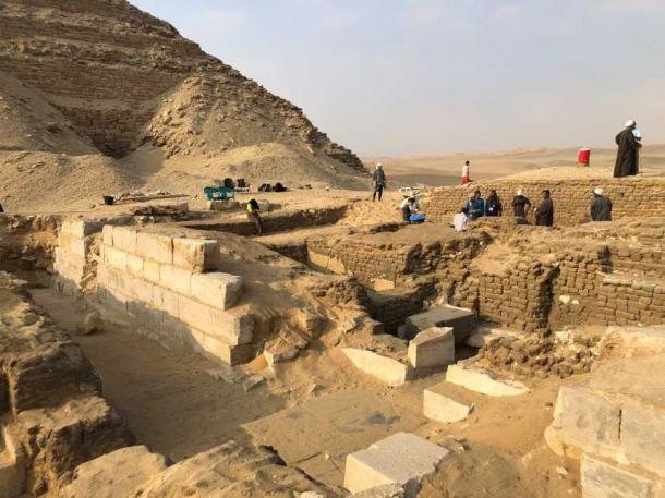 Site of the tomb of Kaires, near Abusir Pyramid Field, Egypt. (Image: Czech Institute of Egyptology)