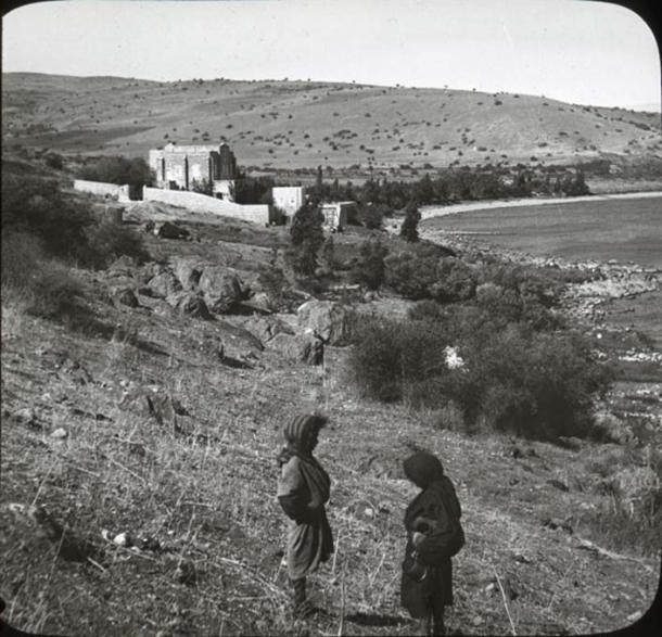 Site on the Sea of Galilee once thought to be in the area of ancient Bethsaida.  (OSU Special Collections)