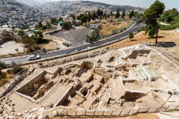 Sitio de excavación en el Monte Sión. Crédito: Proyecto Arqueológico del Monte Sión