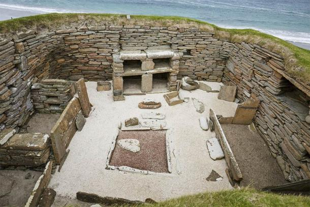 One of the Skara Brae locations showing evidence of little people based on the size of the stone furniture found there. (vinx83 / Adobe Stock)