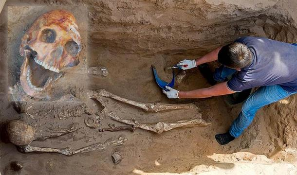 Skeleton found at the Nikolyskoye nomad burial site. (Ministry of Culture and Tourism of the Astrakhan Region)