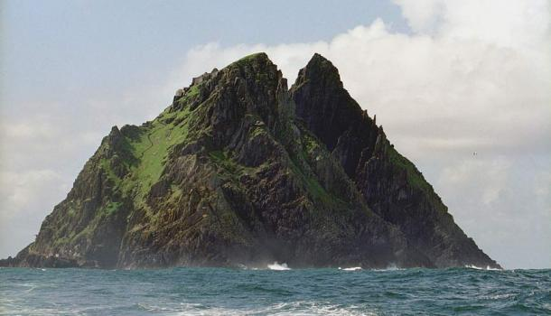 The majestic and isolated Skellig Michael off Ireland's coast.