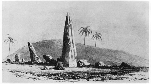 Sketch of Mzora Stone Circle, 1830 The Mysterious Moroccan Megalithic Menhirs of Mzora. (Public Domain)