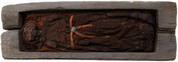 The Skrydstrup woman's oak casket helped preserve her remains for about 3,200 years.