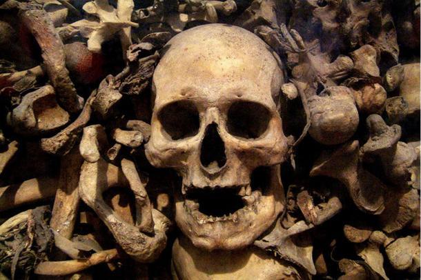 Skull of 'the Martyrs of Otranto' in Otranto Cathedral, Italy