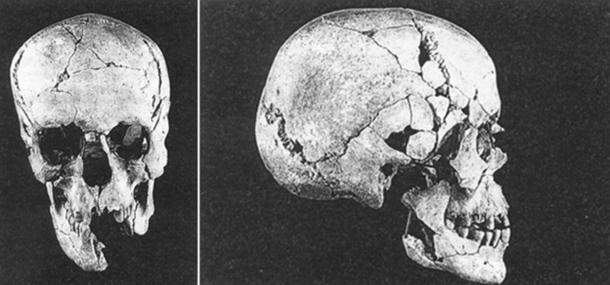 Skulls found at Qumran.