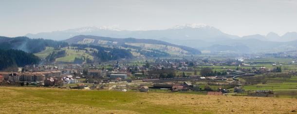 vSkyline of Buzaului Mountain.