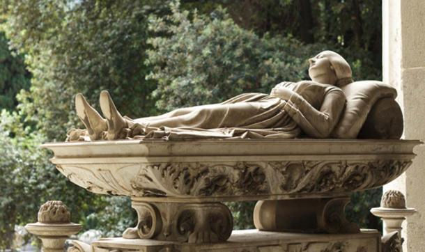 The 'Sleeping Beauty' at Staglieno Cemetery