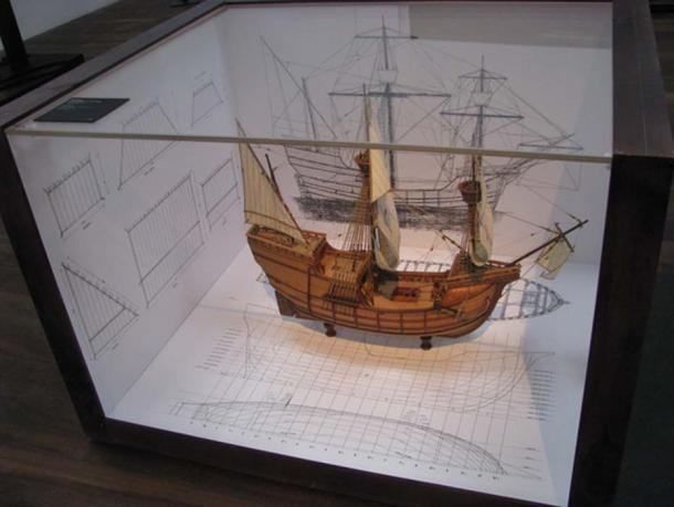 Small replica of a ship