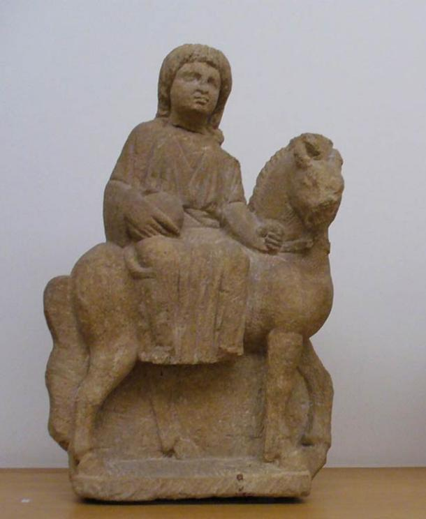 Small sculpture of the Roman/Celtic goddess Epona, third century A.D.