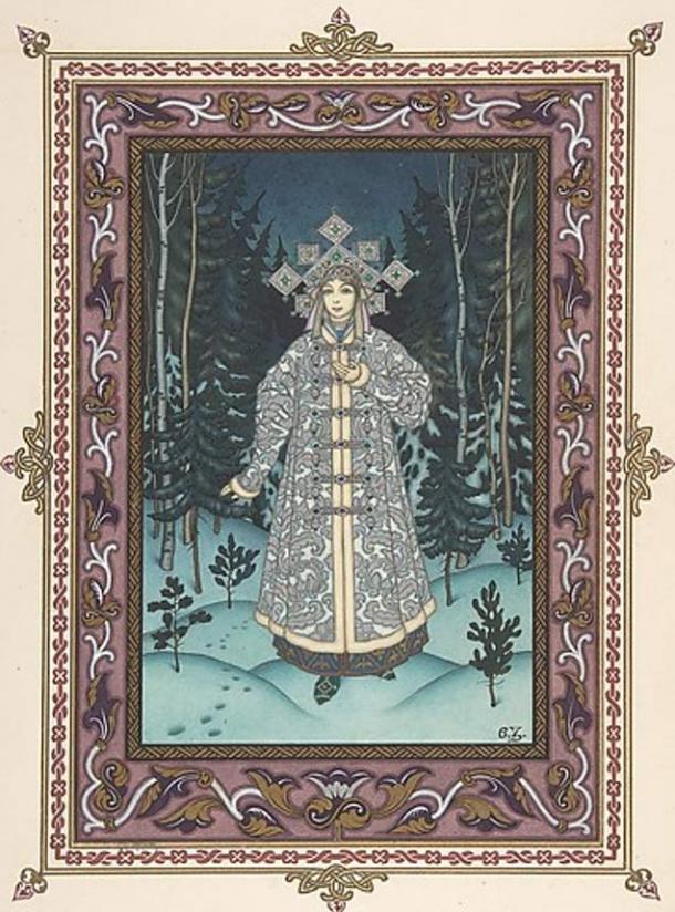 Snegurochka in the forest (1925) by Boris Zvorykin.