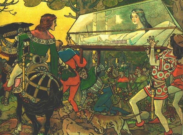 The Prince awakens Snow White