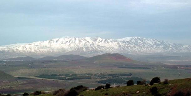 Snowy Mount Hermon.
