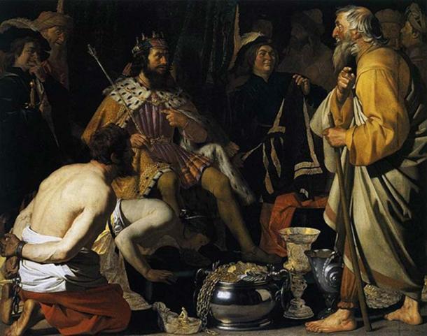 Solon and Croesus by Gerard van Honthors