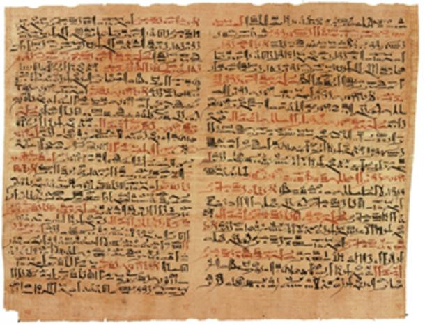 Some of the ancient papyrus have colored ink. (Jeff Dahl / Public Domain)