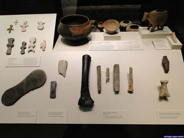Some of the artifacts found at the Los Millares site at the National Archaeological Museum, Madrid.