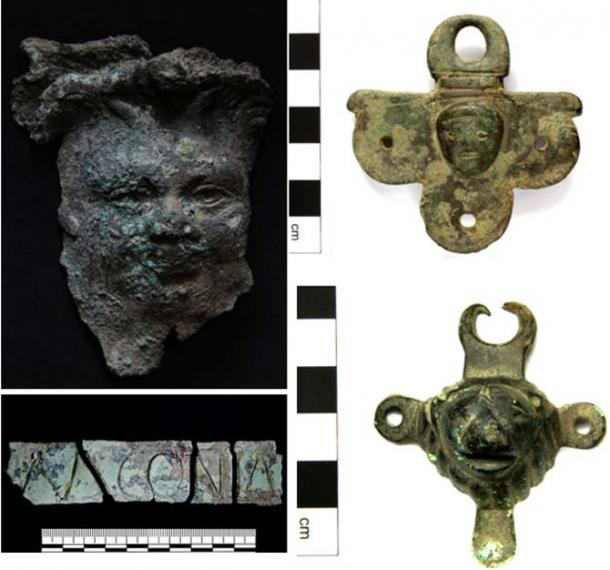 Some of the broken artifacts found in the Roman bronze hoard.