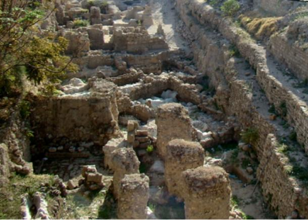 """Some of the excavation site at Sidon. """"College site"""" (Bronze & Iron Ages)"""