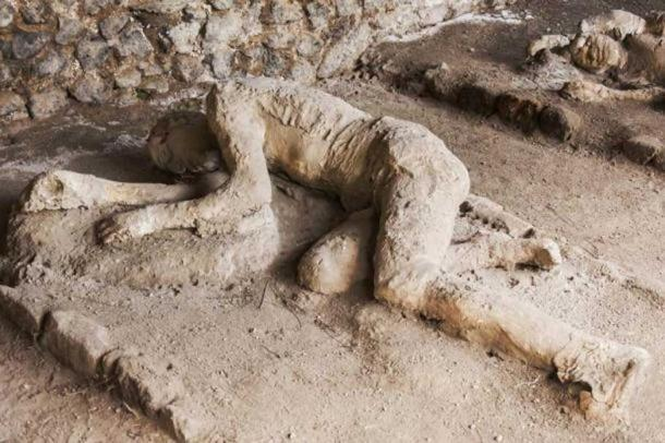 Some of the victims of Pompeii were sitting, some lying when the superhot gas cloud enveloped them. (Bigstock photo)