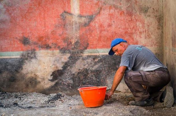 Some of the walls appear to have been scorched. (Image: Parco Archeologico Di Pompeii)