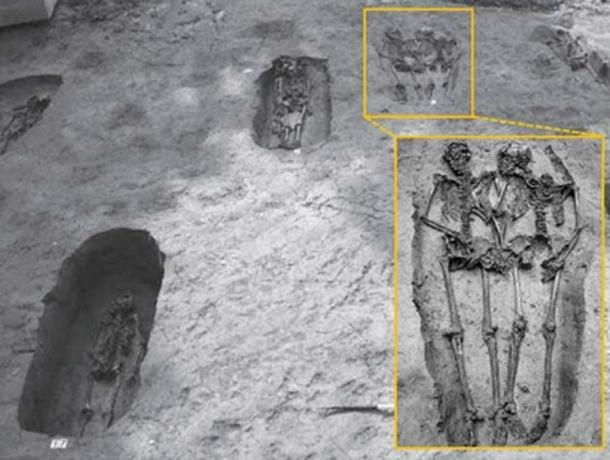 Some suggest the skeletons - who were of similar age - could be related, such as brothers or cousins. (Nature)
