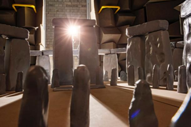 Sound test at 12x the frequency the 1:12 scale model of Stonehenge. (Trevor Cox / University of Salford)
