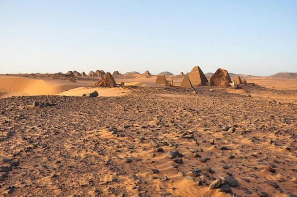 The Southern Cemetery of Meroe, where Queen Khennuwa's tomb is located.