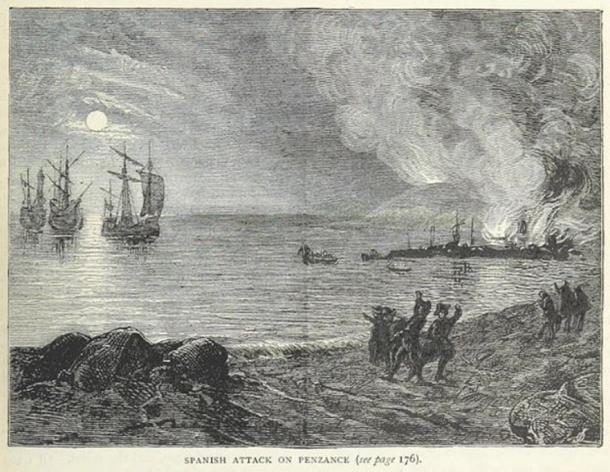 The Spanish burn Penzance.
