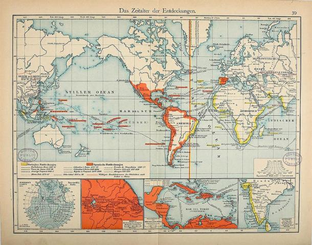 The Spanish and Portuguese colonial empires in the 16th century. (FDRMRZUSA / Public Domain)