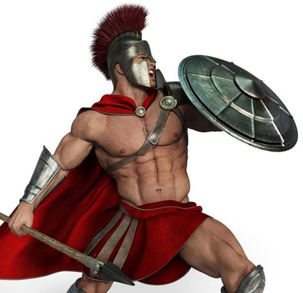 Spartan warrior with shield. (DM7 / Adobe)