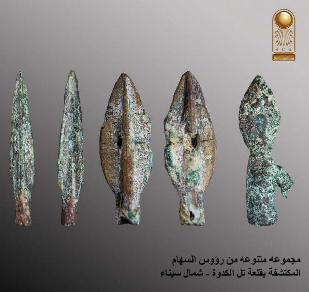 Spear heads found at the fortress site in Sinai