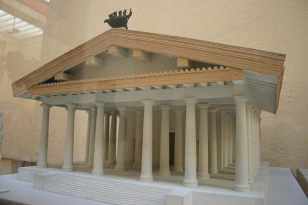 Speculative model of the first Temple of Jupiter Optimus Maximus, 509 BC. (Hiro-o / CC BY-SA 3.0)