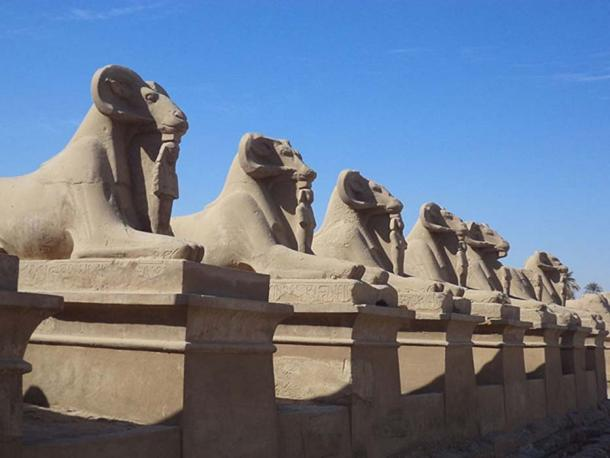 Sphinx Avenue from Karnak Temple to Luxor