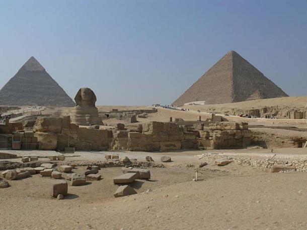 The Sphinx Temple of Giza.