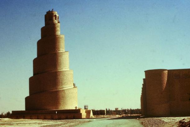Spiral minaret of the Great Mosque of Samarra. (CC BY 3.0)