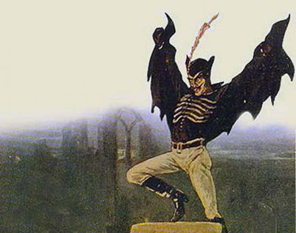 Spring Heeled Jack as depicted by anonymous artist. (Public Domain)