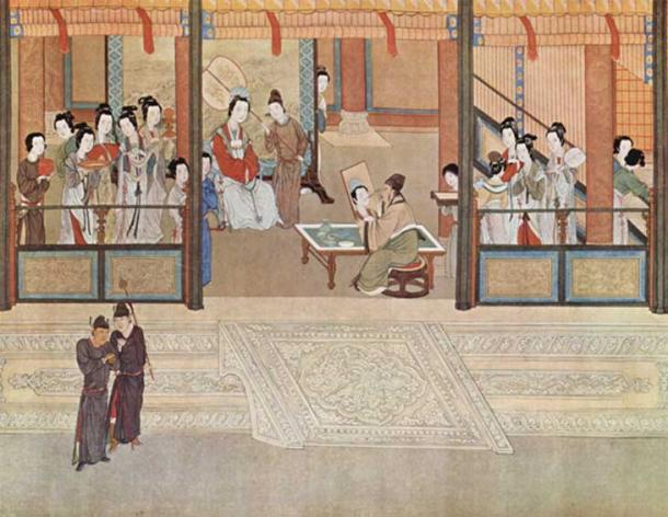 Spring morning in a Han palace, by Qiu Ying