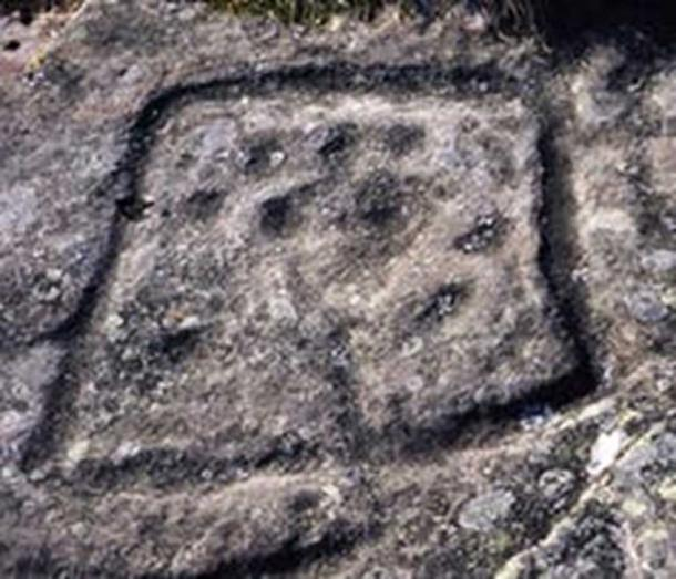 Square shaped rock art from north Northumberland. (Author provided)