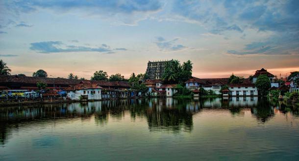 The Sree Padmanabhaswamy Temple complex, Kerala, India