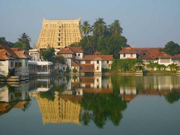 Sri Ananta Padmanābhasvāmi Temple in Thiruvananthapuram, Kerala, India.