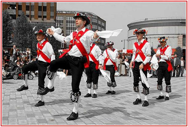 St George's day celebrations in Luton: Morris dancing.
