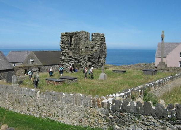 The Ruins of St Mary's Abbey, Bardsey Island, Wales, U.K.