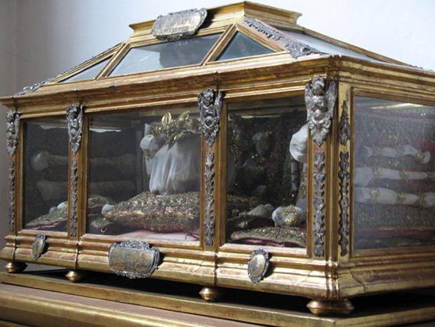 A reliquary in St. Peter's Church, Munich.