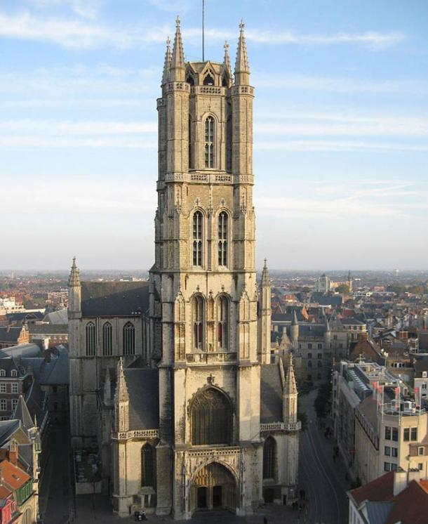 St. Bavo's Cathedral where the bone walls were discovered